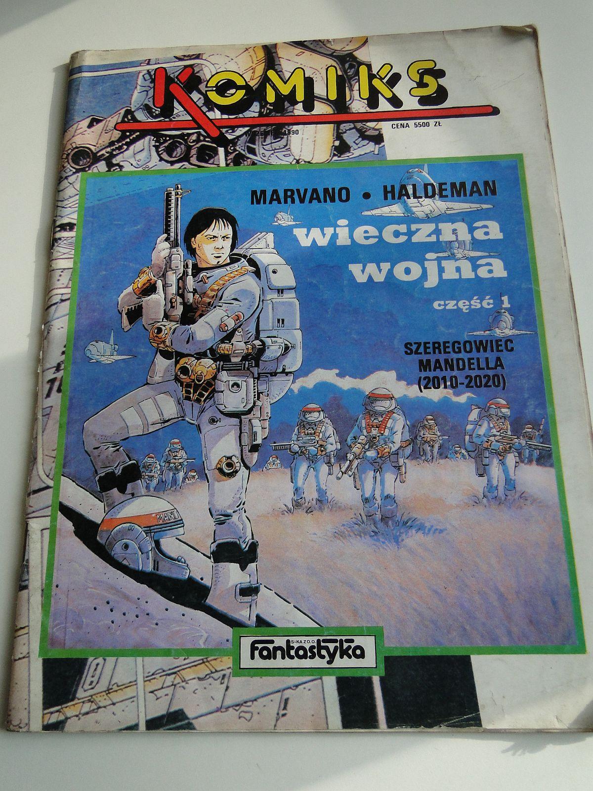 KOMIKS WIECZNA WOJNA SZEREGOWIEC MANDELLA 1990 ROK