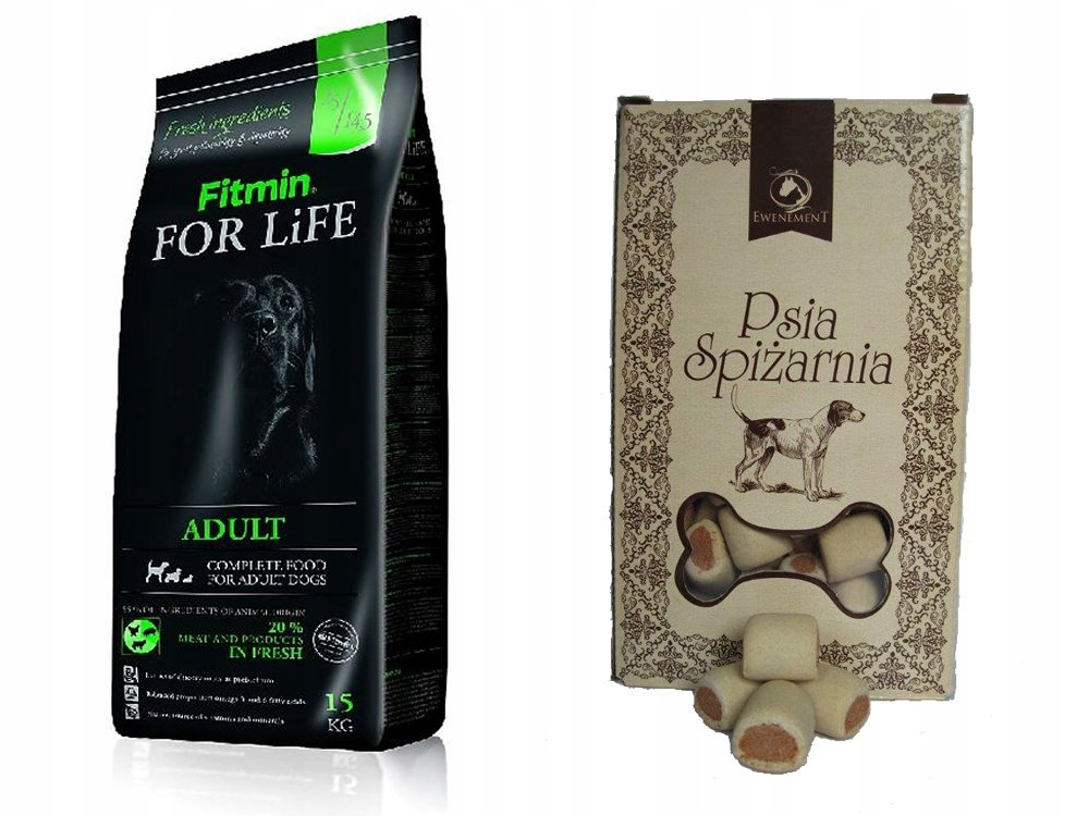 FITMIN FOR LIFE ADULT ALL BREEDS 15 KG + CIASTKA