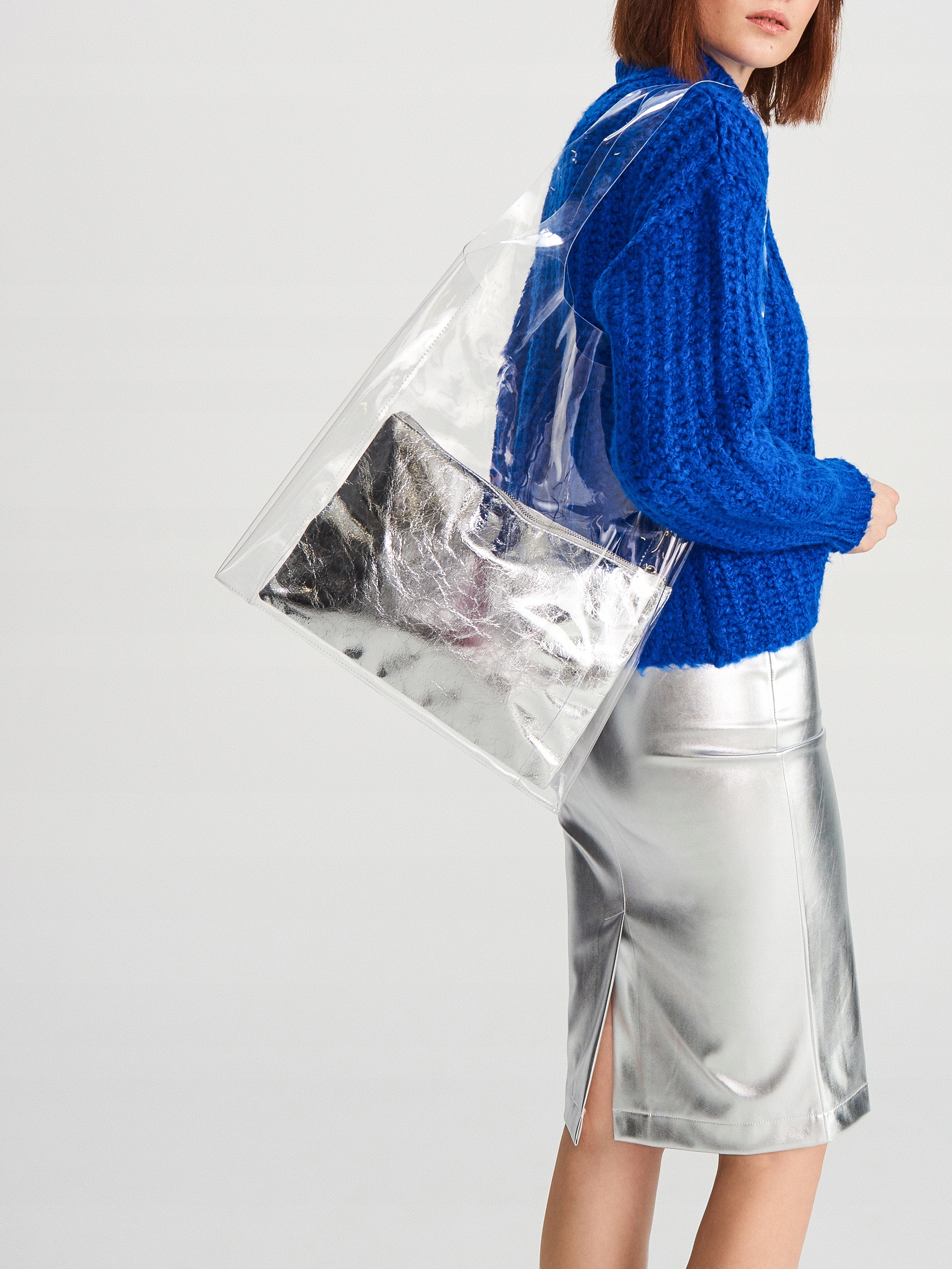 RESERVED torba torebka transparentna NOWA lato