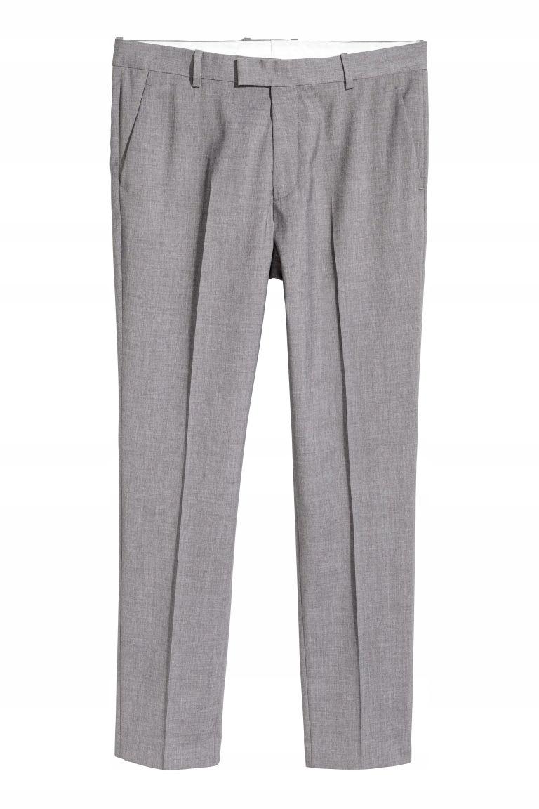 spodnie garniturowe slim H&M 50 175/88 B242