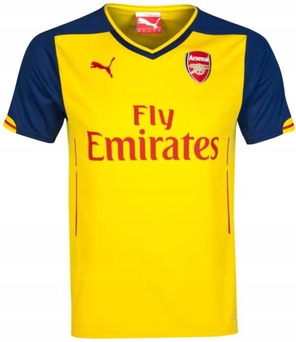Koszulka Puma ARSENAL Londyn AWAY żółta- L