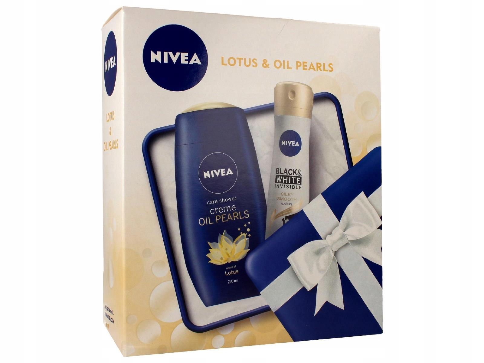 Nivea Zestaw prezentowy Lotus & Oil 150ml)