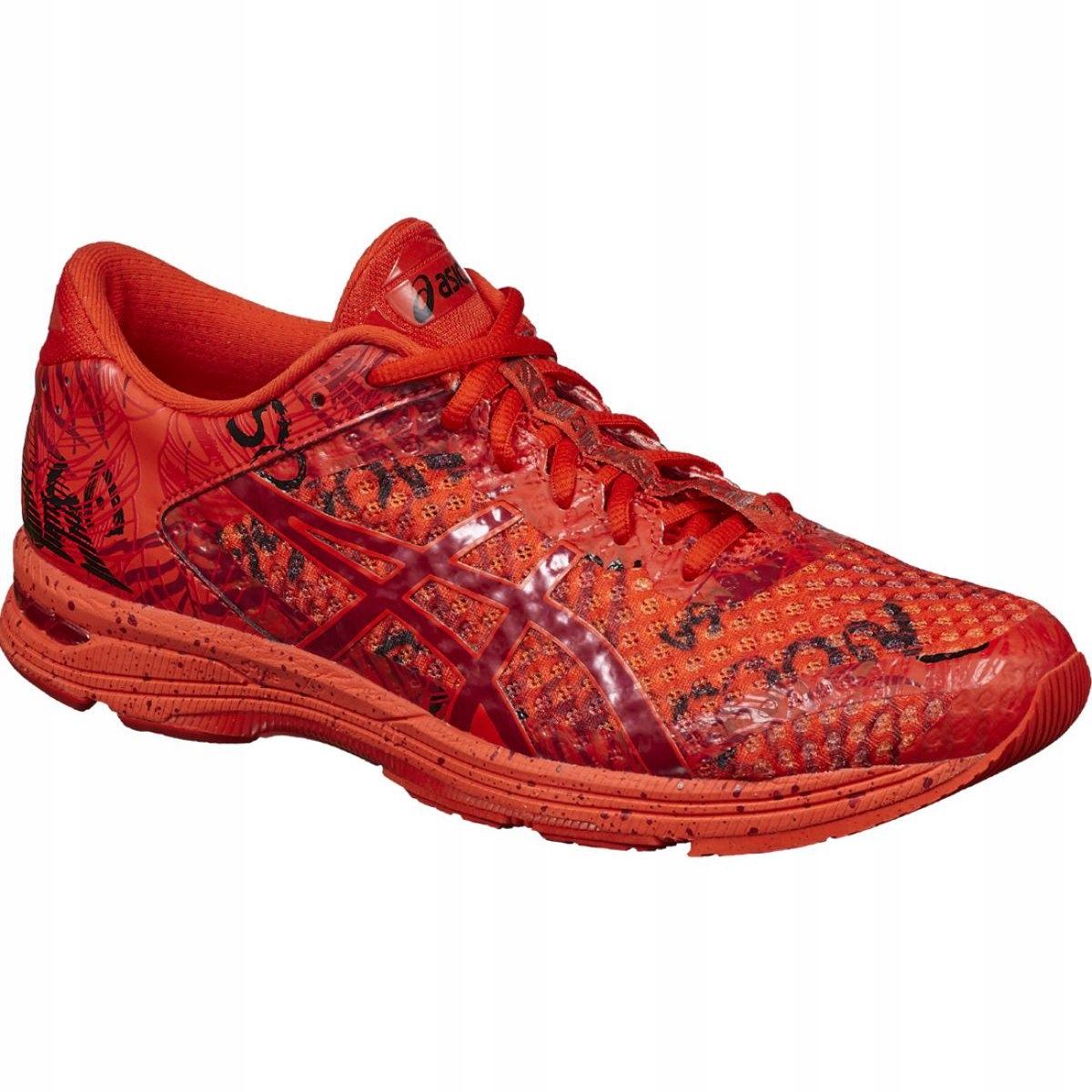 Asics treningowe bieganie sport czerwone r.43,5