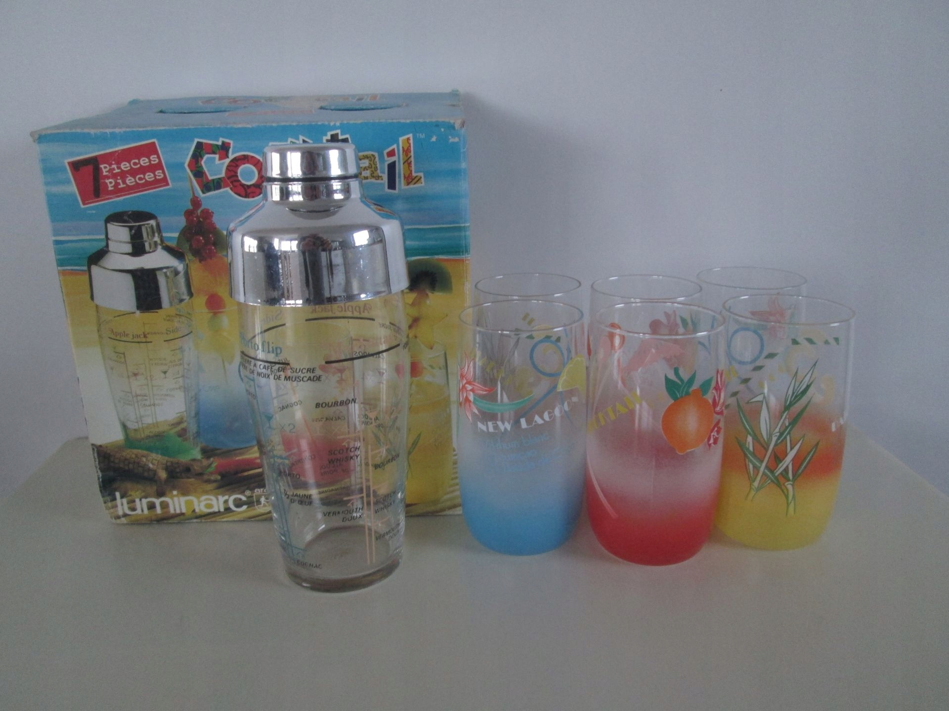 Szklanki koktajlowe zestaw