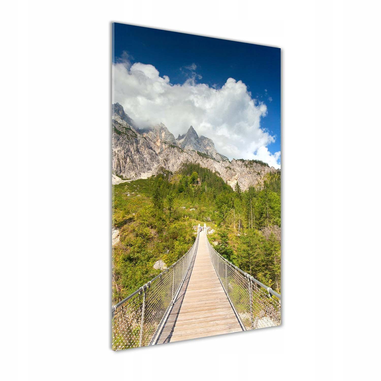 Foto obraz szkło hartowane Most wiszący 70x140 cm