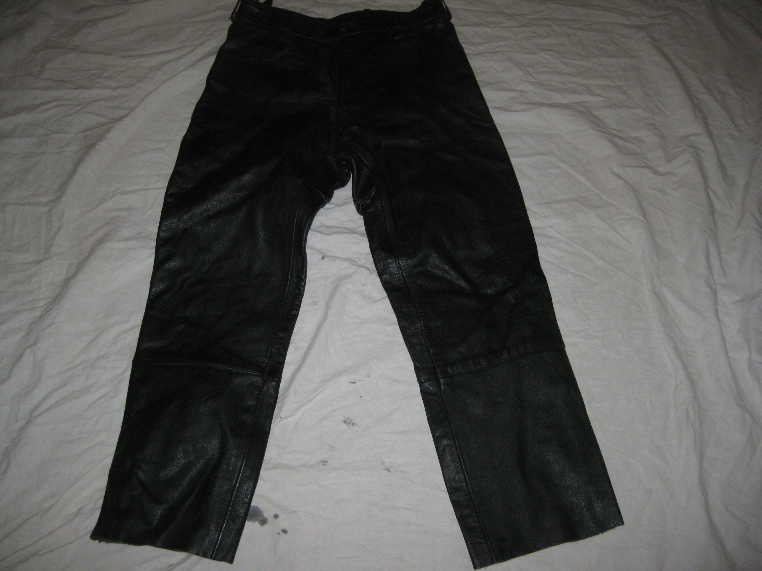 spodnie na motor FASTWAY 165-170/75-80 gruba skóra