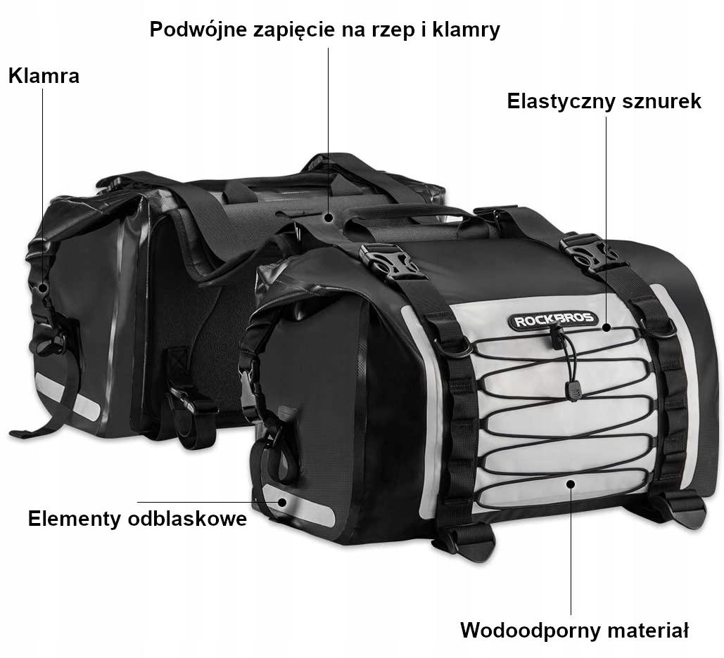 Купить 2 сумки седельные сумки мотоцикла ROCKBROS AS-010BGR сзади на Otpravka - цены и фото - доставка из Польши и стран Европы в Украину.