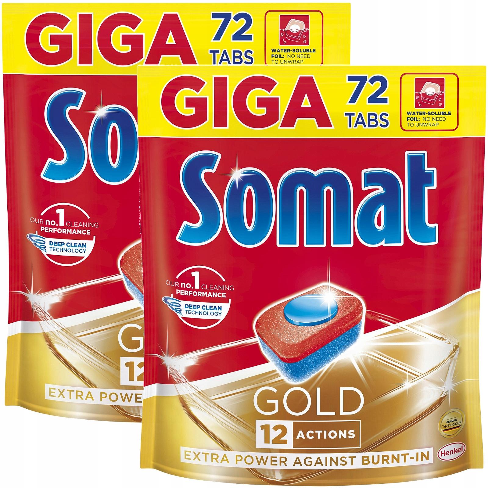 Somat Золотой Посудомоечная таблетки Гига 2 х 72 й 144шт