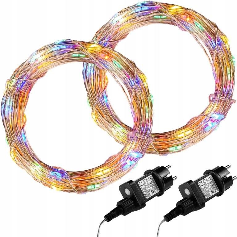 Sada 2 50 LED svetelných vodičov - farebných