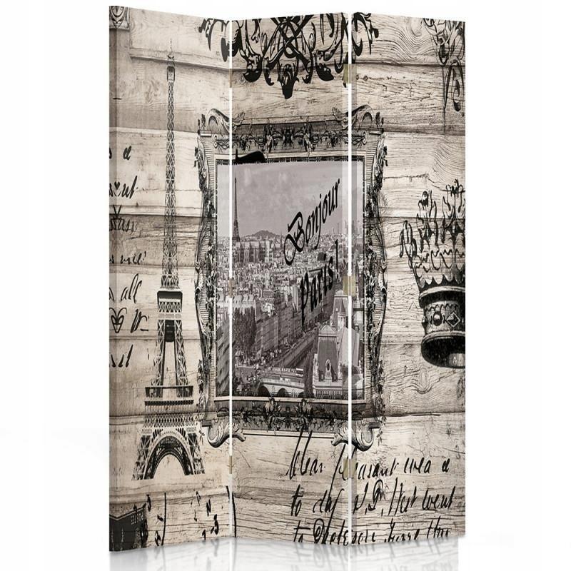Izbová obrazovka, Paríž, retro 110x180