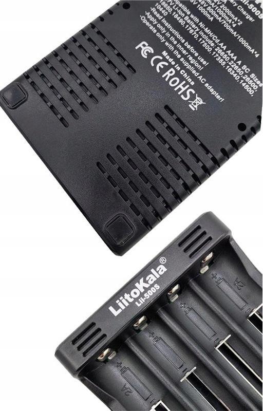 LiitoKala Lii-500S Ładowarka akumulatorów Li-IonAA Model Lii-500S
