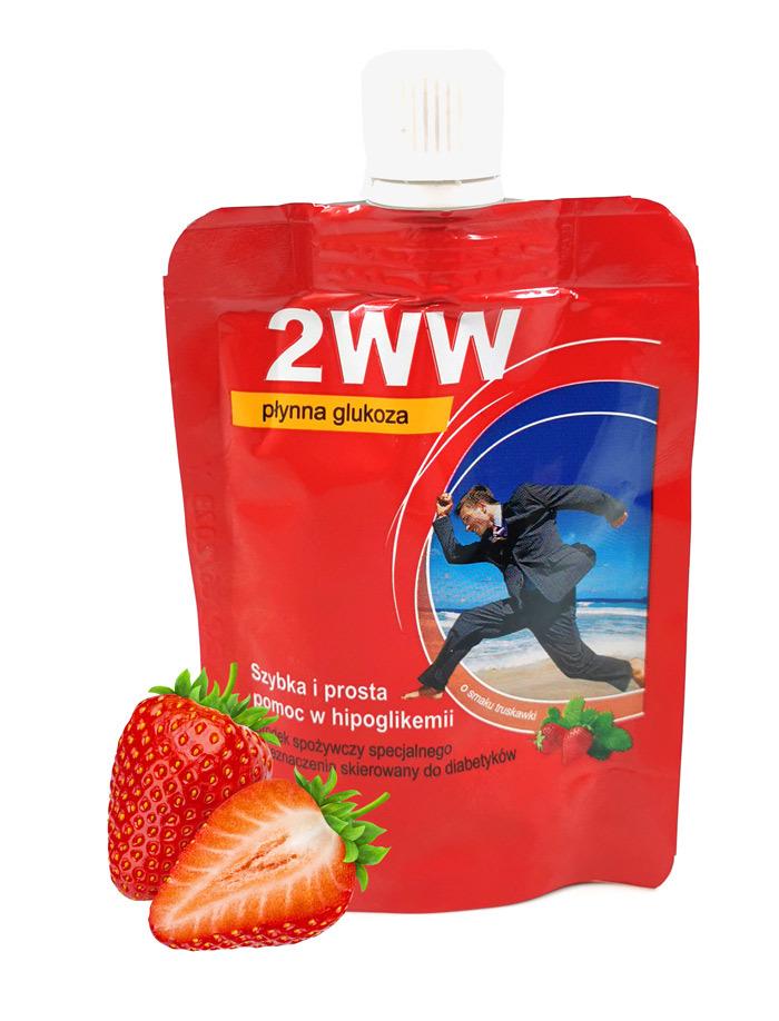 Płynna glukoza 2WW o smaku truskawkowym