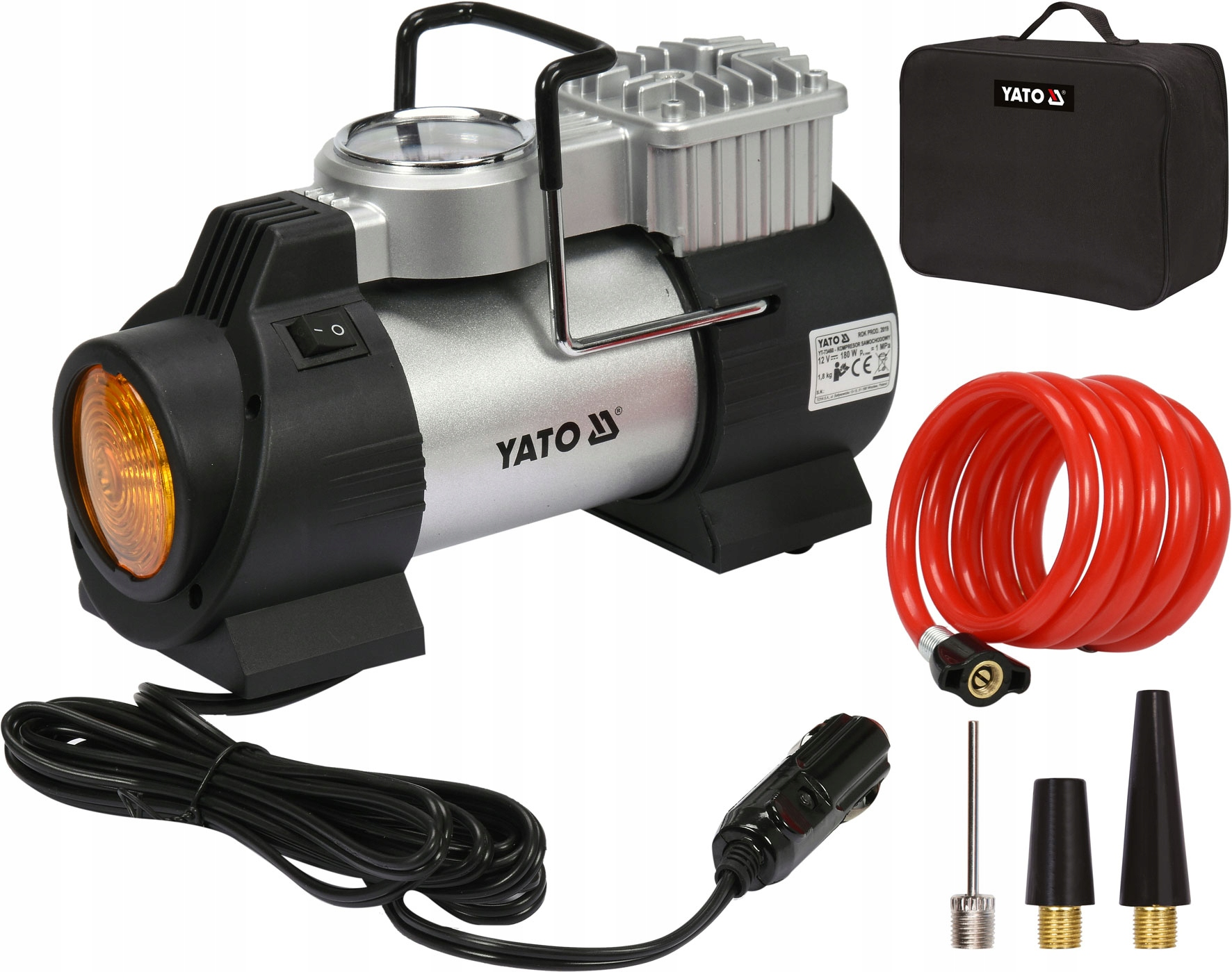 YATO Автомобильный компрессор COMPRESSOR PUMP 12V
