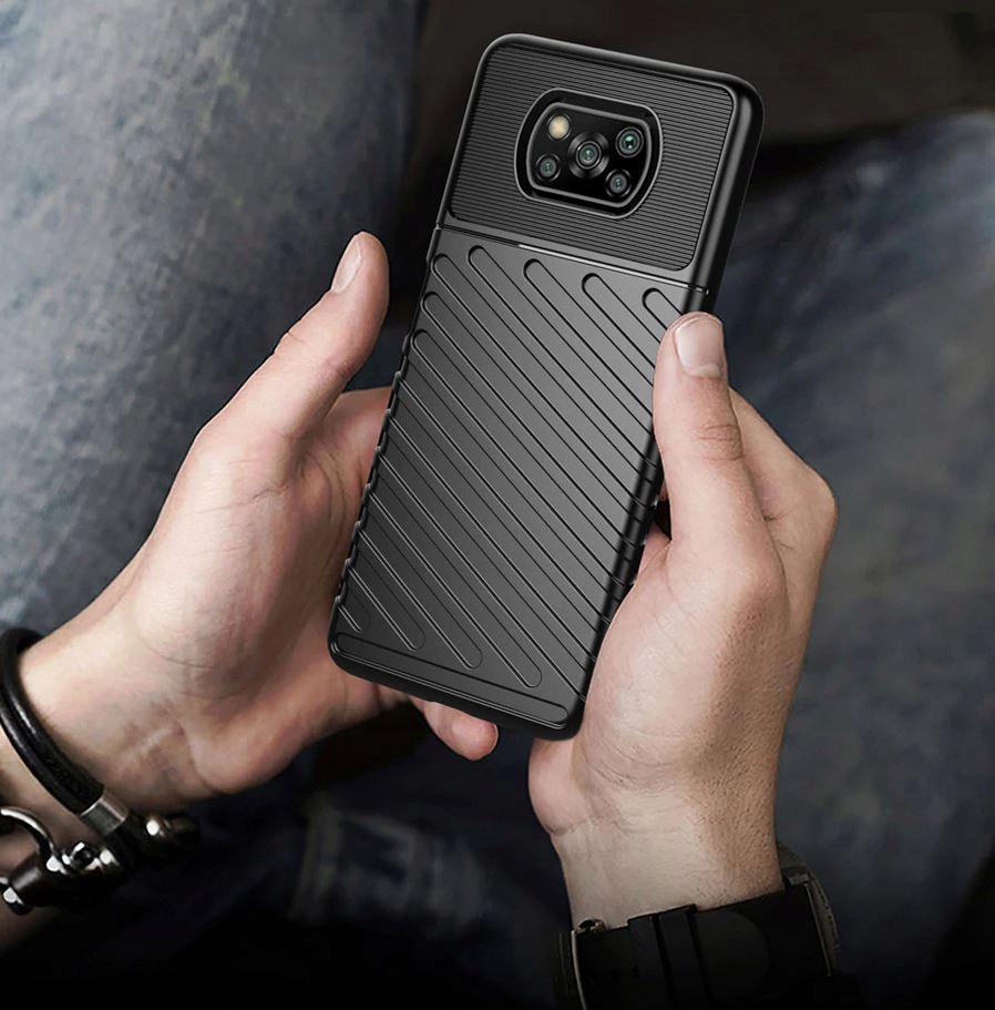 Etui do Xiaomi POCO X3 NFC Pancerne Case + Szkło Kolor czarny