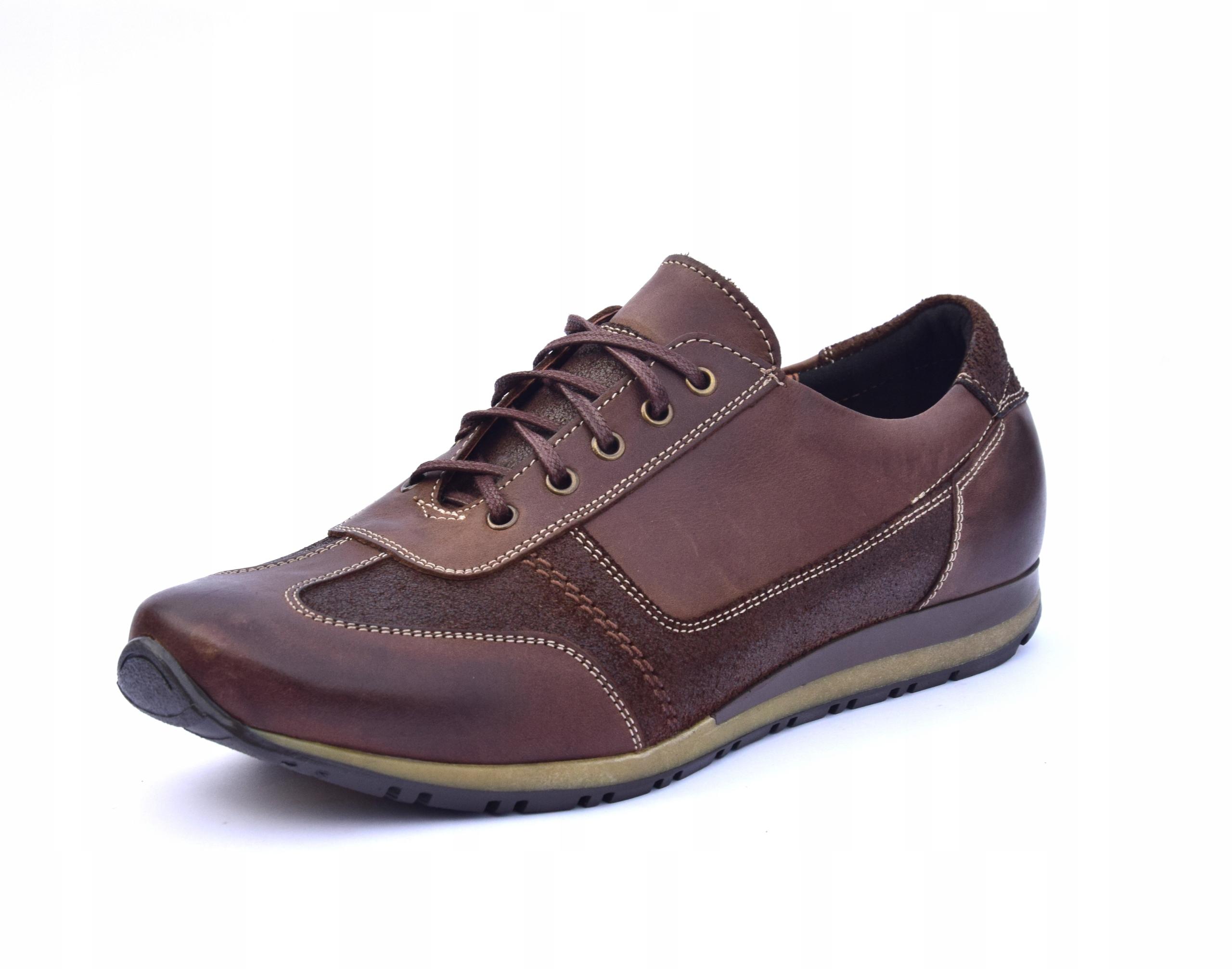 Półbuty skórzane brązowe obuwie ze skóry PL 294