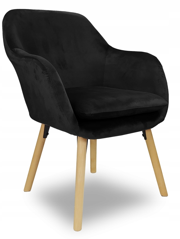 Мягкое кресло Boston black velvet