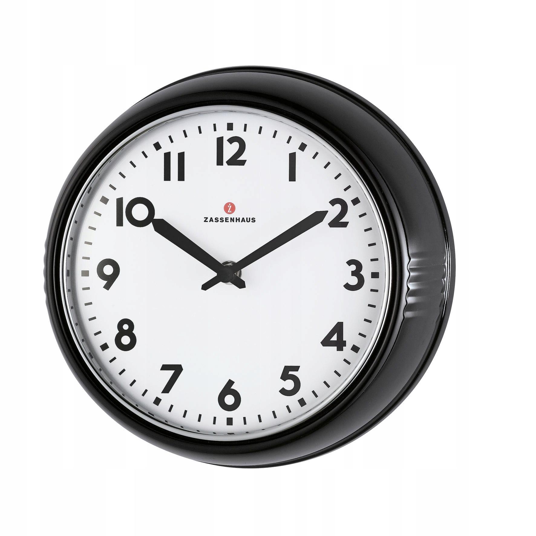 Nástenné hodiny Zassenhaus Retro 24x6 cm, čierne