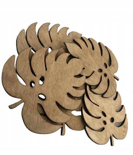Подставки под кружки деревянные 5 шт.