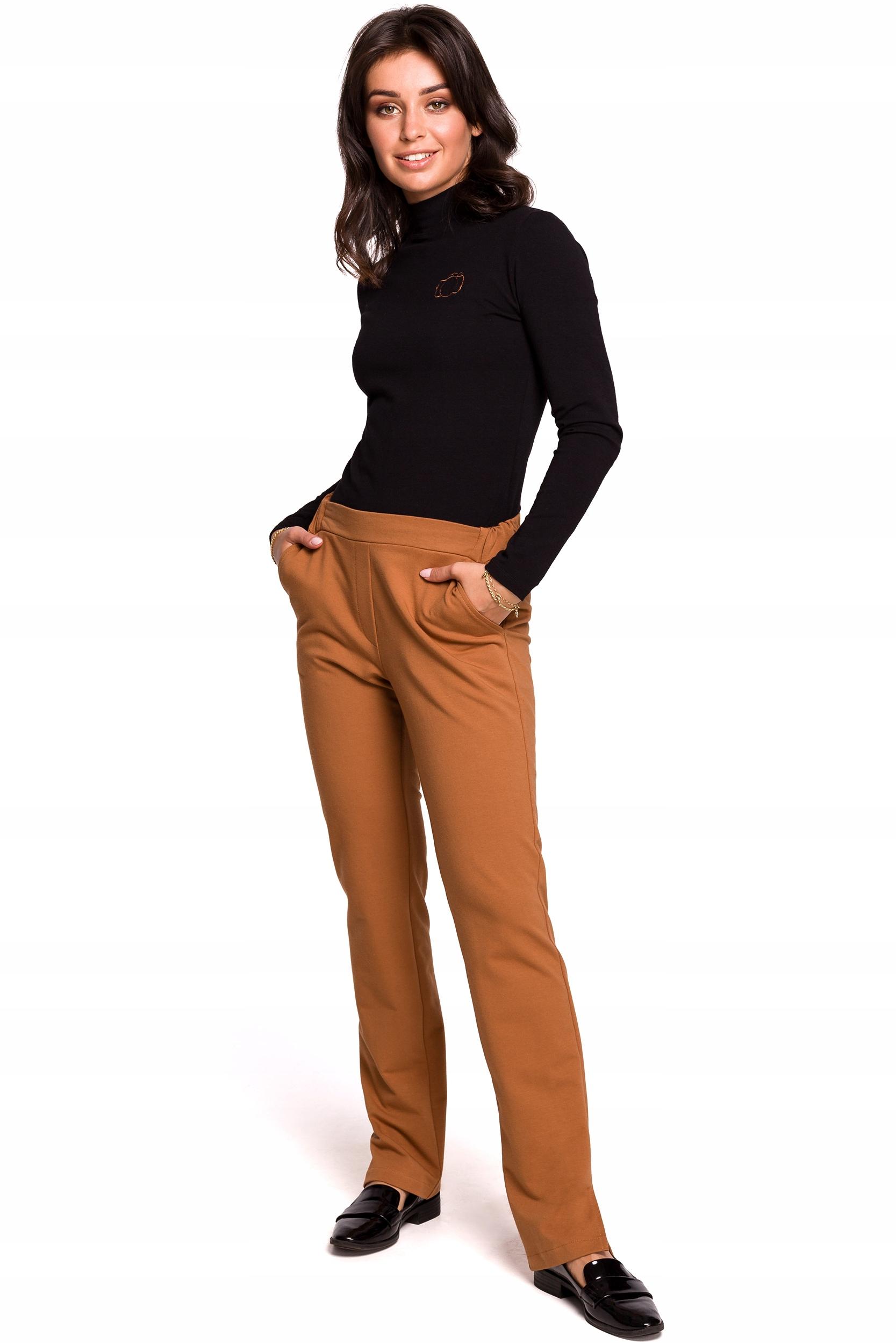 B124 Spodnie z rozporkami po bokach - 42 | XL
