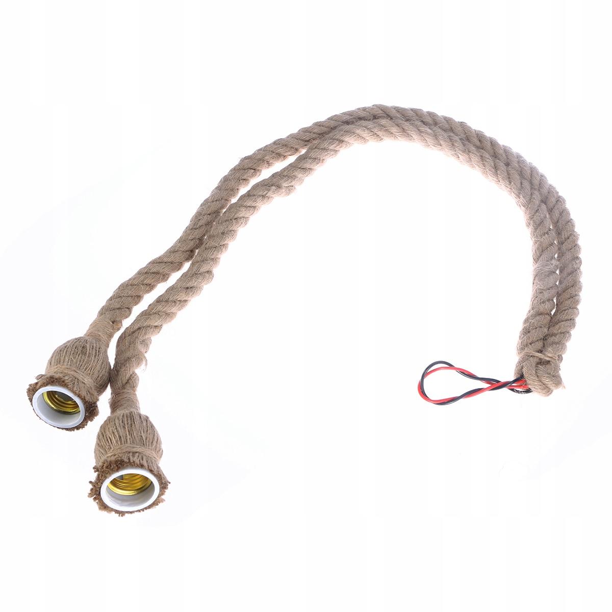 2M Dvojité mäsové konektory Rustikálne retro lano ko