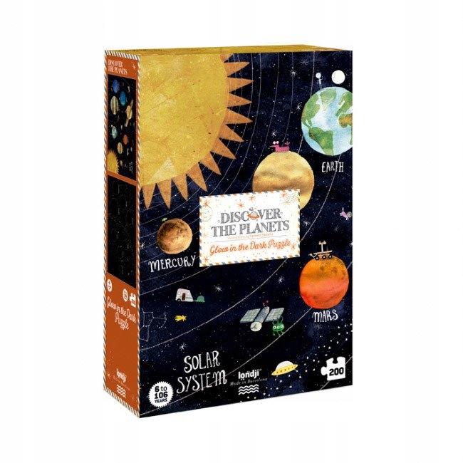 Londji: Puzzle žiariacich planét 200 ks PZ391