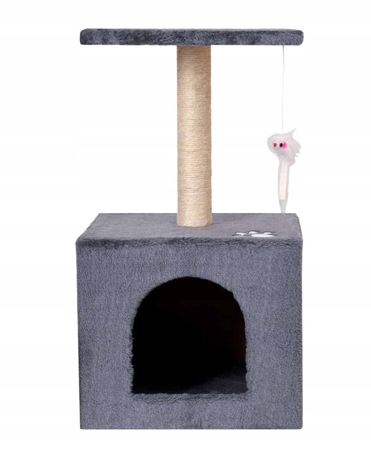 Stánok na mačky pre mačky na dom, 3 úrovne, 56 cm dominantný vzor bez vzoru