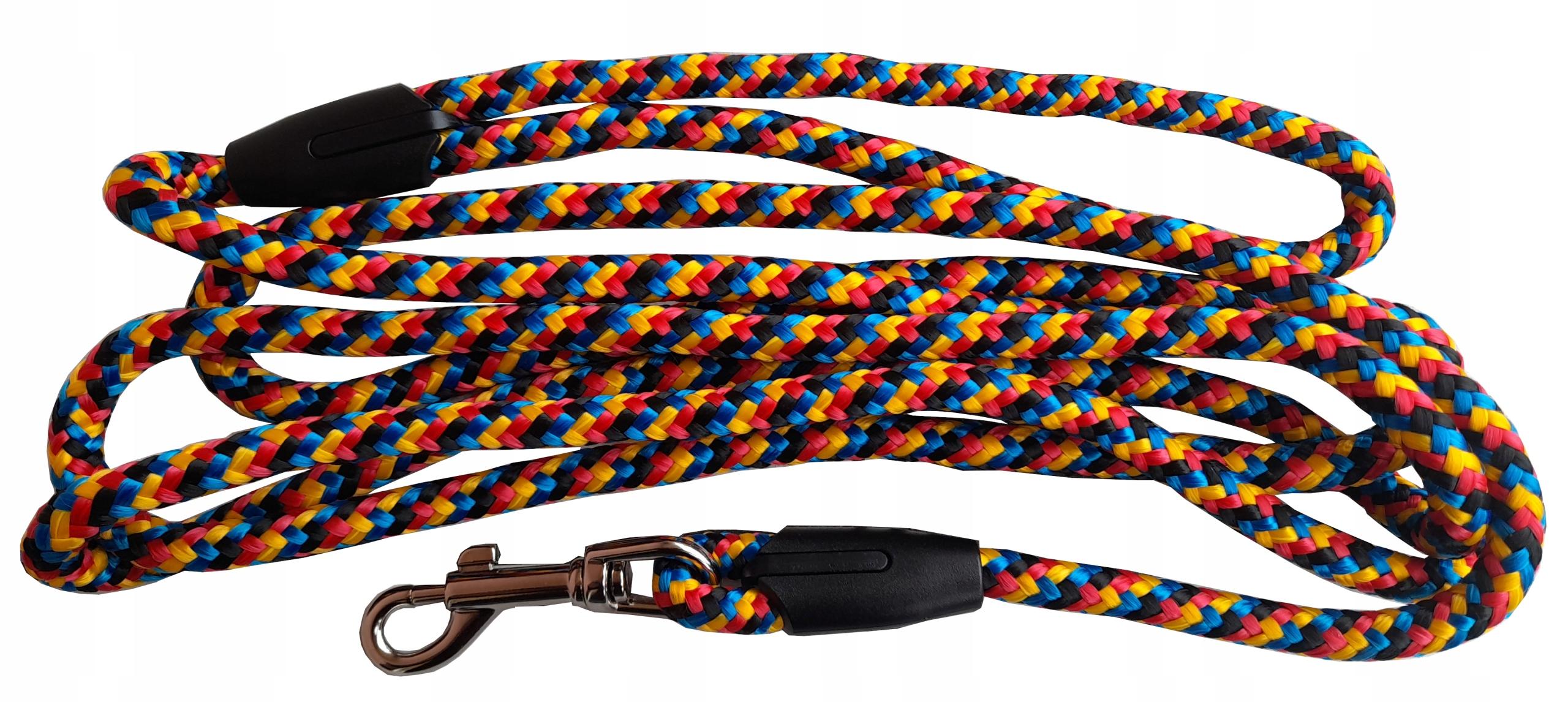 веревочный поводок 10мм 2м для собаки LXL Colourful Strong