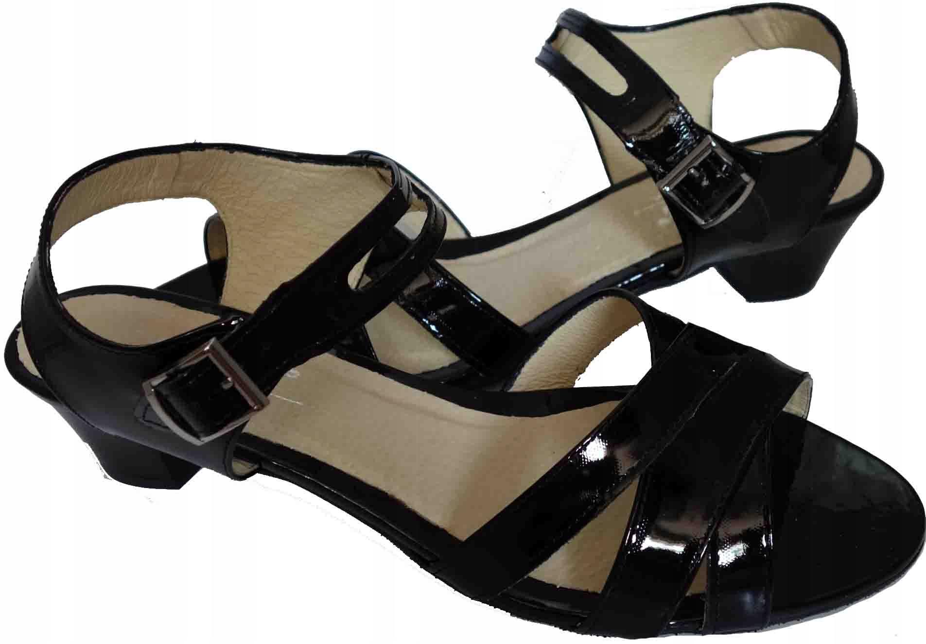 Skórzane sandały Tegosc H szerokie w palcach 44