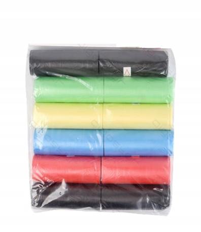 Woreczki dla psa kolorowe 12 szt. w opakowaniu