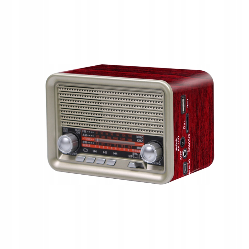 RÁDIO RETRO USB BLUETOOTH PENDRIVE SD KARTA FM AUX
