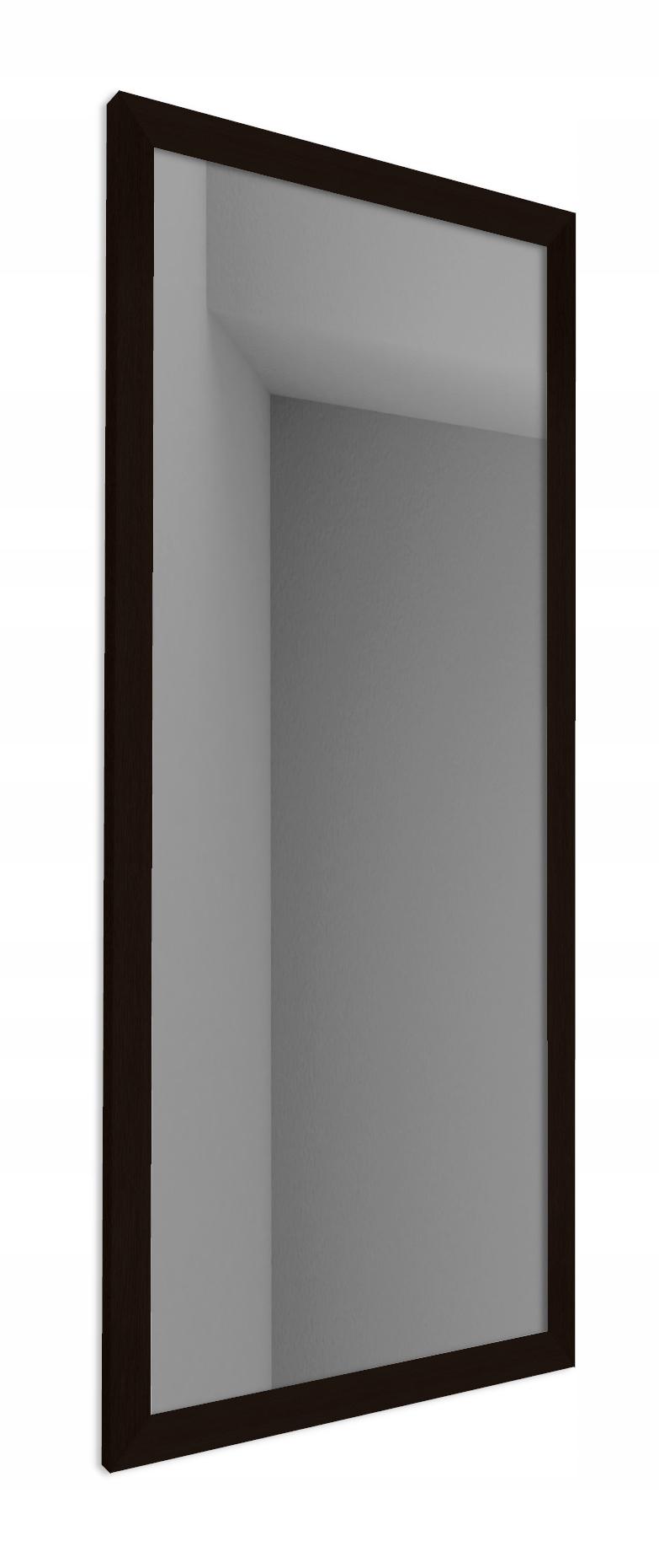 БОЛЬШОЕ ГРАФИТОВОЕ ЗЕРКАЛО С ЧЕРНОЙ РАМКОЙ 80 x 180 см