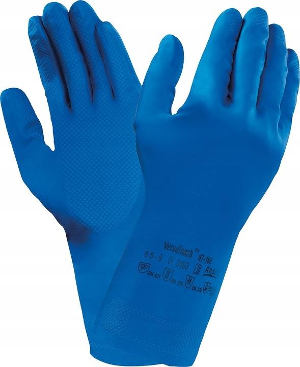 Экономические перчатки Резина ANSELL Flocked S