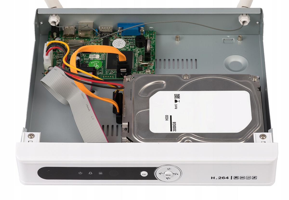 MONITORING WIFI REJESTRATOR 4 KAMERY HD ANDROID Maksymalna pojemność dysków 4 TB