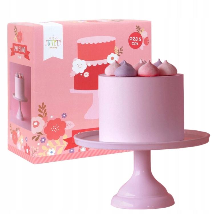 Retro ružový ovocný koláčový tanier malý