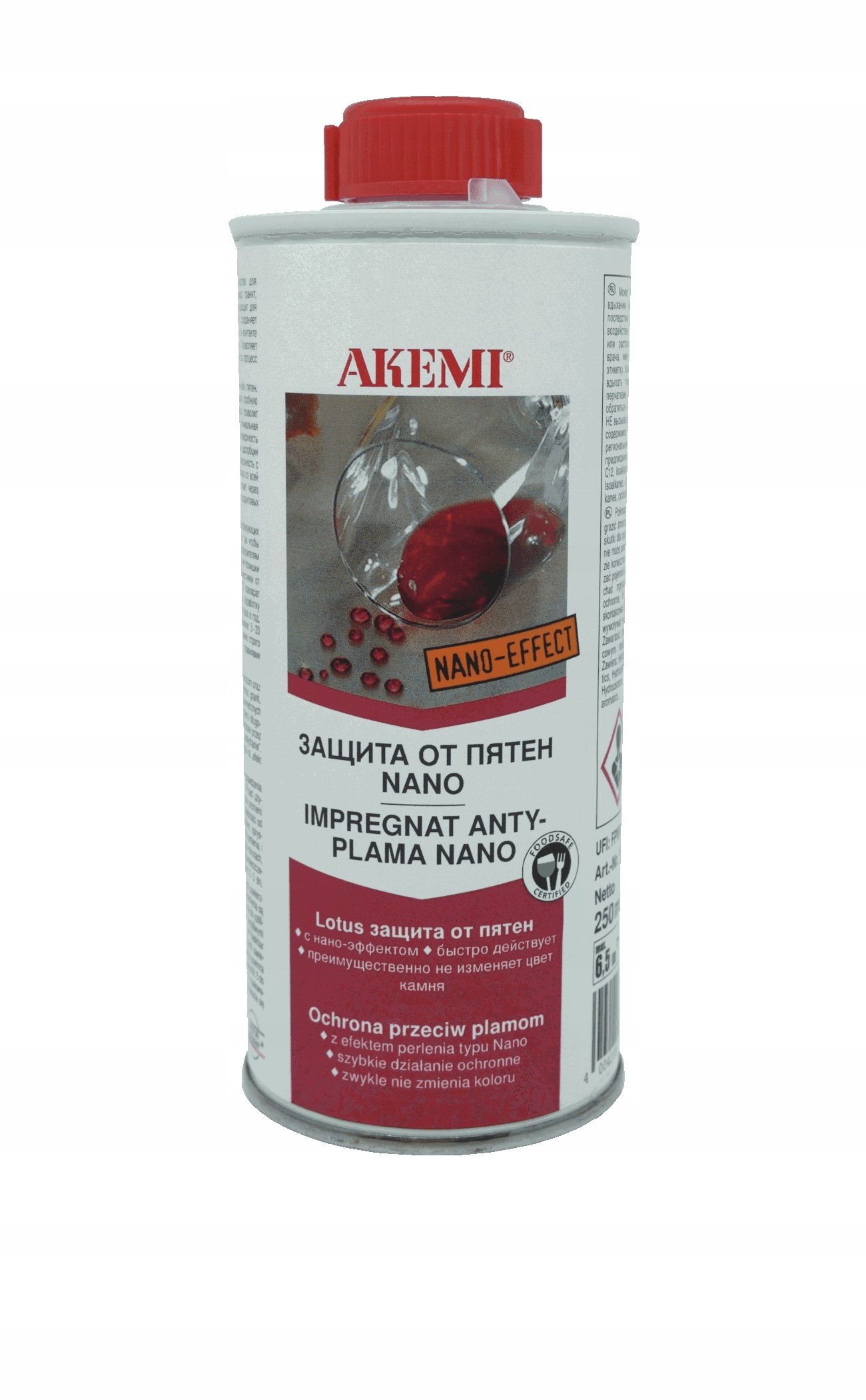 Акеми пропитка для мрамора и гранита Nano 250 мл