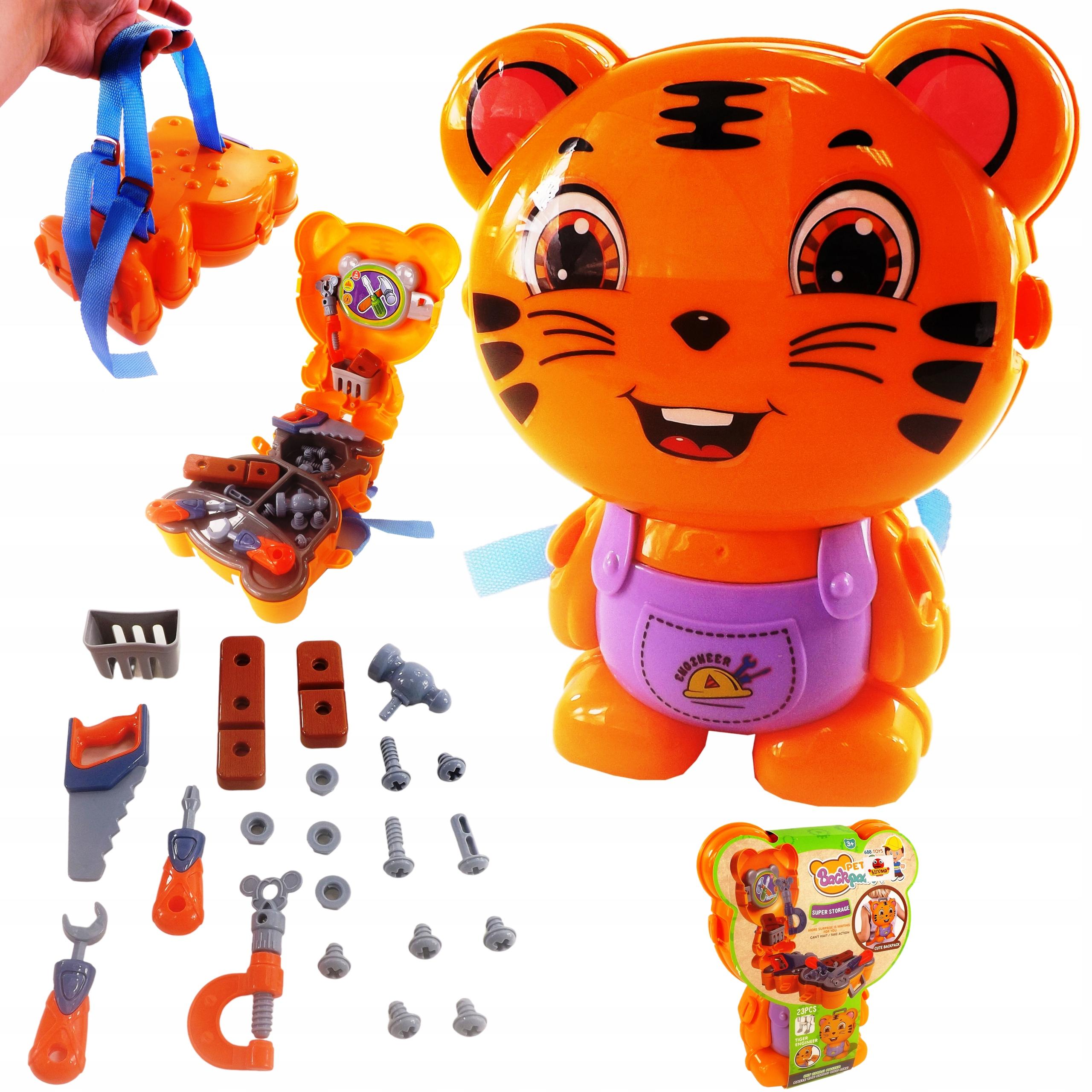 Warsztat zestaw plecak tygrysek narzędzia 23 el 40