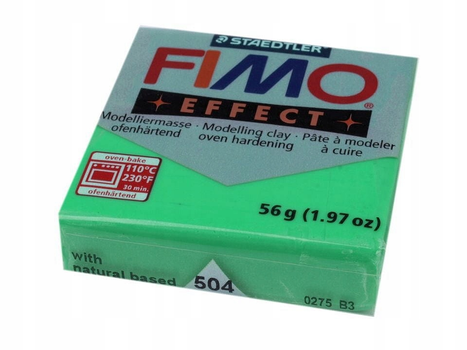 Полимерная глина для лепки Fimo Effect, аквамарин 504,57г