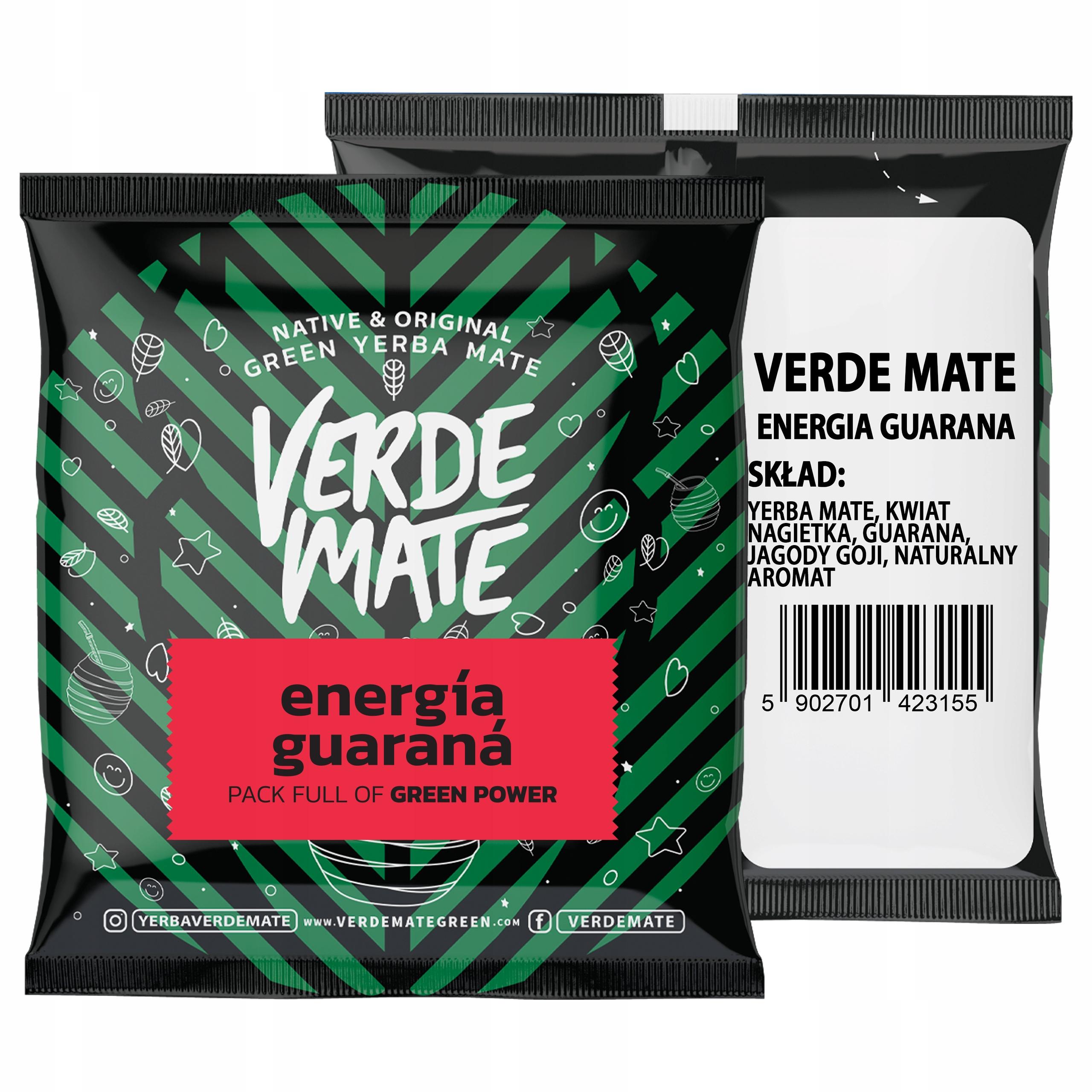 Yerba Verde Mate Green Energia Guarana 50g próbka