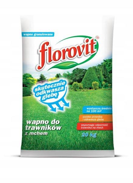 Wapno granulowane do trawników z mchem Florovit