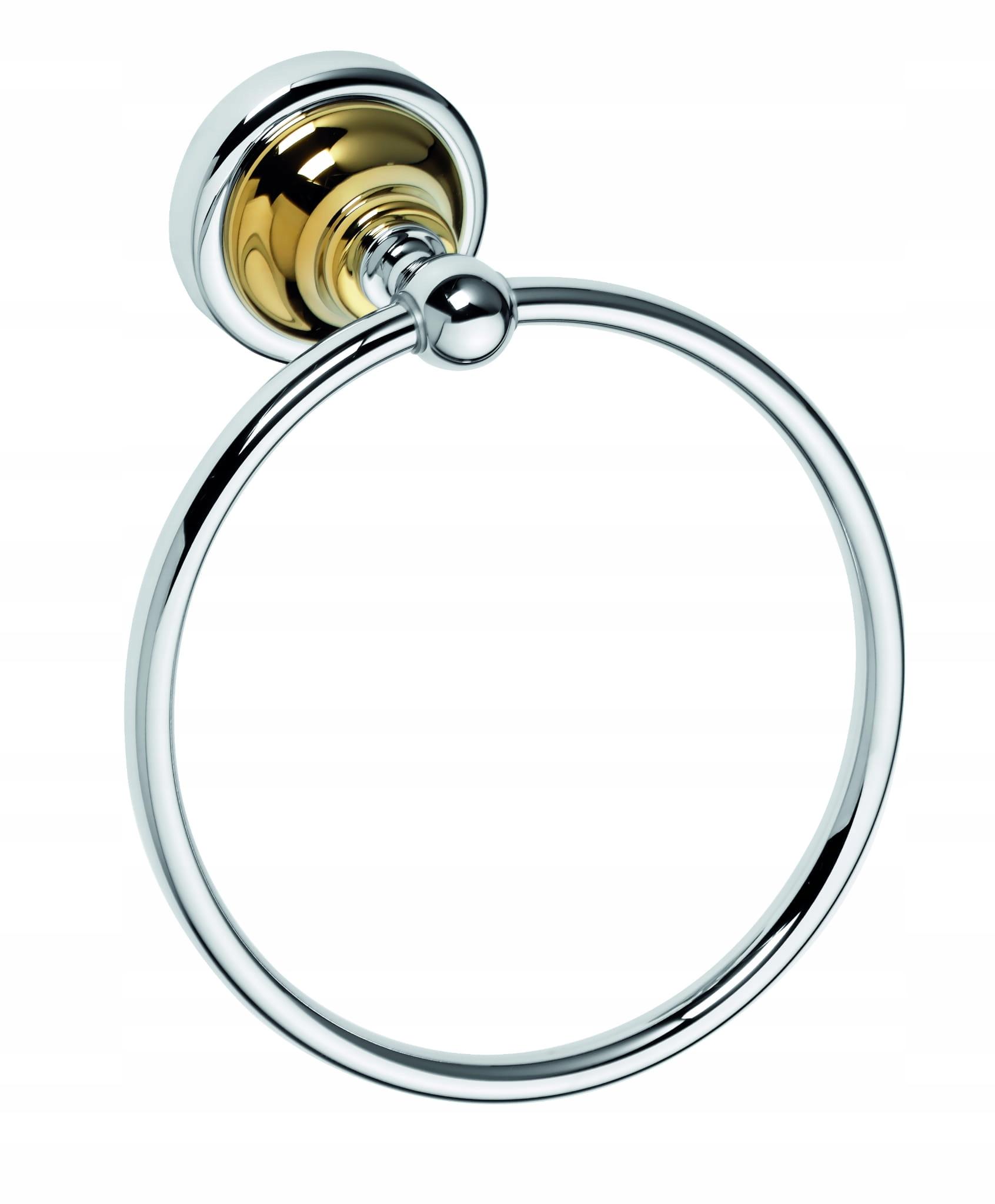 BEMETA 144204068 RETRO zlatý / chróm Vešiak na prstene