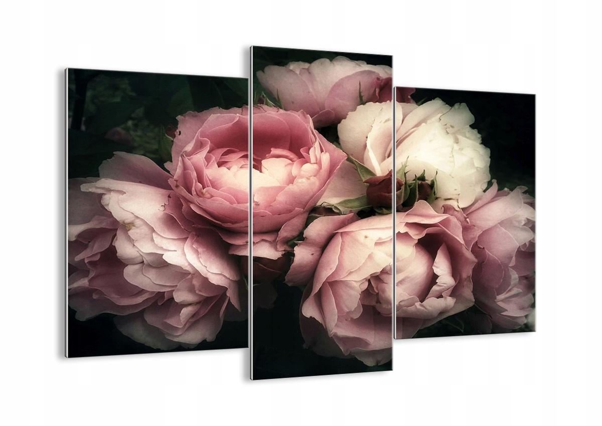 Vzor sklo ruže, kvety retro GCB130x100-3930