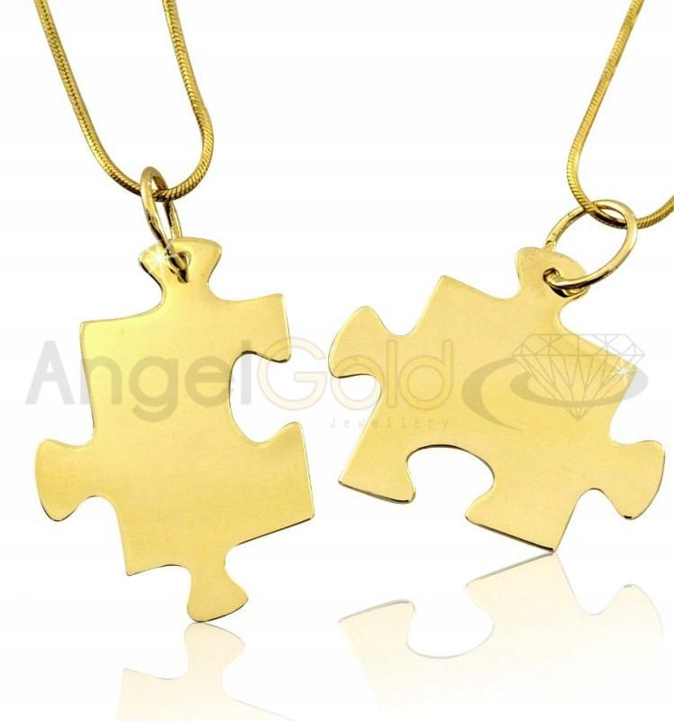Złote Wisiorki Dwa Puzzle Pr. 333 + Grawer