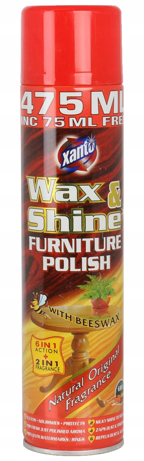 Xanto Wax Shine Original Пена для Мебели, Дерева, ВЕЛИКОБРИТАНИЯ
