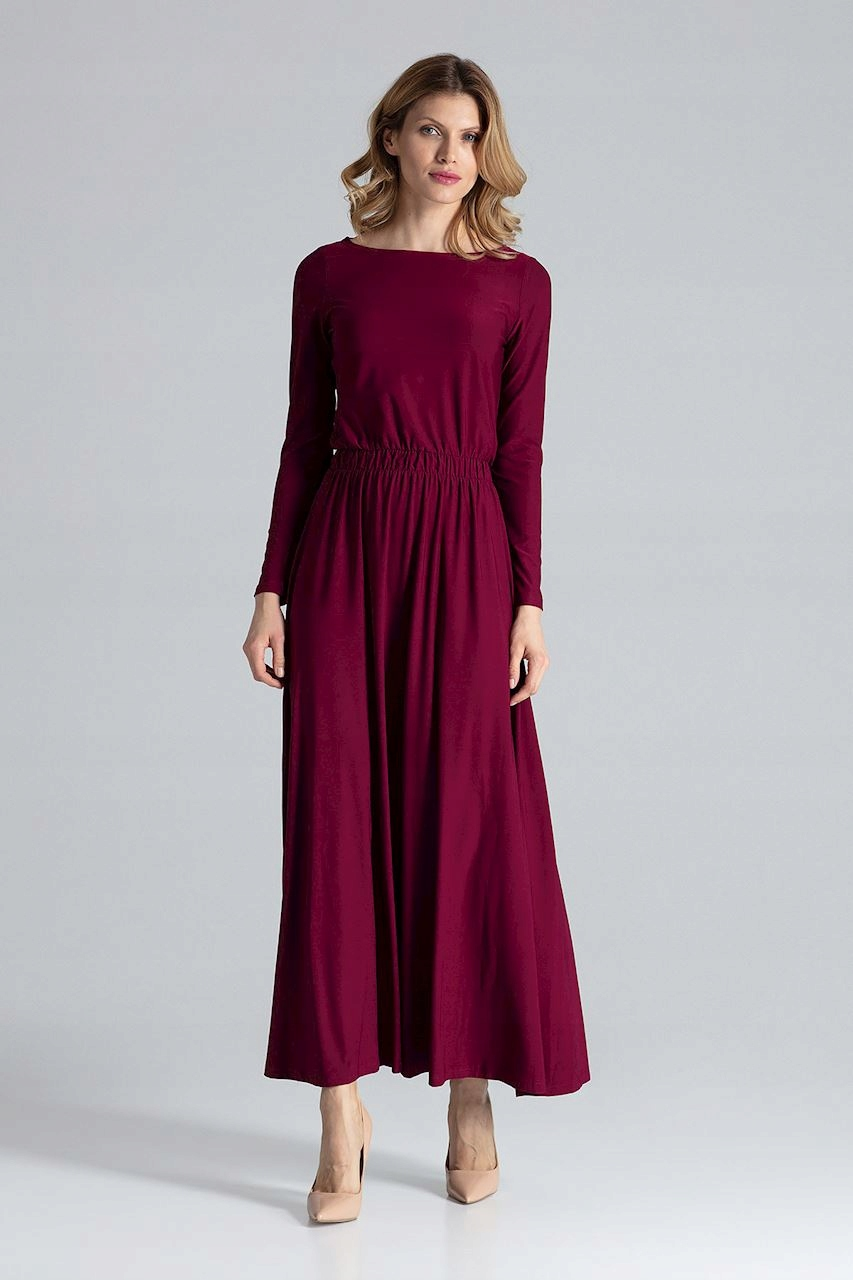 Długa Sukienka Modelująca Wiosna Lato roz XL