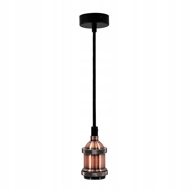 Závesné závesné svietidlo pre medenú žiarovku E27
