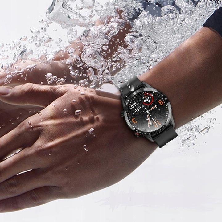 SMARTWATCH Zegarek EKG Krokomierz Puls Bluetooth Materiał paska guma