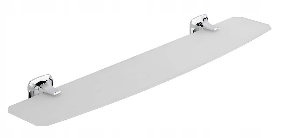 Polica do kúpeľne AIDA 56 cm opálové sklo / chróm