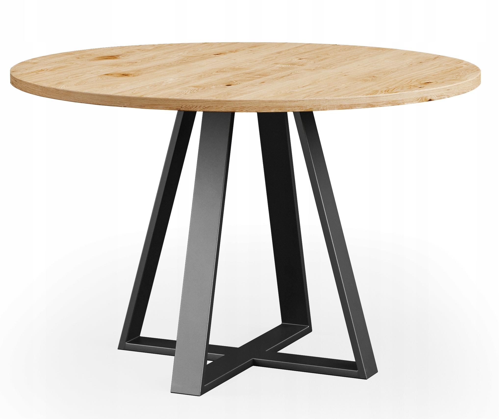 Okrúhly dubový drevený stôl CLOUD 110 cm RETRO