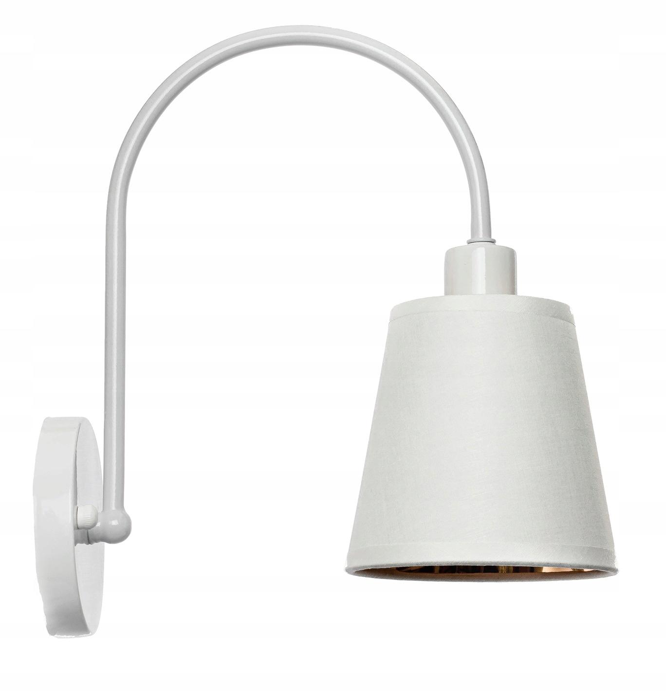 Nástenná lampa s látkovým tienidlom biela zlatá mašľa