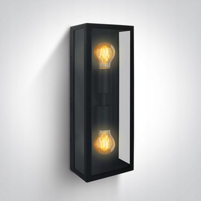 Vonkajšie nástenné svietidlo retro štvorec E27 vinobranie 45 cm